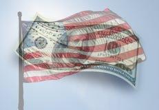 Bandeira e dinheiro Imagens de Stock Royalty Free