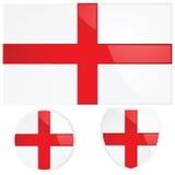 Bandeira e emblema de Inglaterra ilustração royalty free