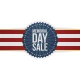 Bandeira e fita do cumprimento da venda de Memorial Day ilustração stock
