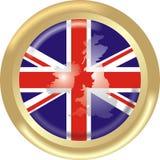Bandeira e mapa BRITÂNICOS Fotografia de Stock