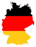 Bandeira e mapa de Alemanha Imagens de Stock