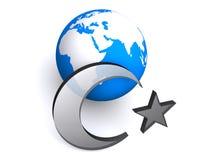 Bandeira e mapa de Turquia Fotos de Stock