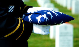 Bandeira e sepulturas Foto de Stock