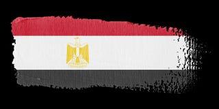 Bandeira Egipto do Brushstroke ilustração stock