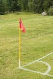 Bandeira em um campo de futebol Fotografia de Stock Royalty Free