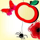 Bandeira engraçada do fruto do vetor Fotografia de Stock Royalty Free