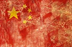 Bandeira envelhecida de China Fotos de Stock