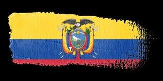 Bandeira Equador do Brushstroke ilustração royalty free