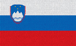 Bandeira eslovena feita malha Fotos de Stock