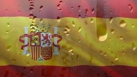 Bandeira espanhola com condensação vídeos de arquivo