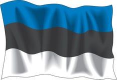 Bandeira estónia Imagem de Stock