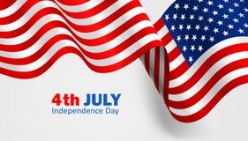 Bandeira Estados Unidos da América Vetor Imagens de Stock