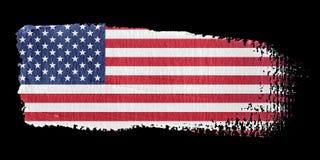Bandeira Estados Unidos do Brushstroke ilustração stock