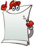 Bandeira estilizado da proteção contra incêndios Imagens de Stock
