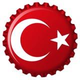 Bandeira estilizado de Turquia no tampão de frasco ilustração stock