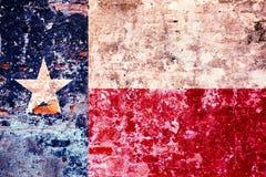 Bandeira estilizado do Grunge de Texas State foto de stock