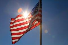 Bandeira EUA 2 Foto de Stock Royalty Free