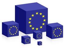 Bandeira européia Fotografia de Stock Royalty Free
