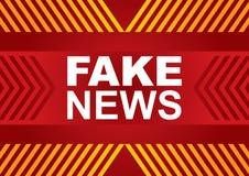 Bandeira falsificada da notícia ilustração do vetor