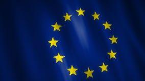 Bandeira feita malha da União Europeia filme