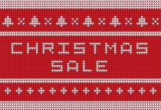 Bandeira feita malha Natal da venda do estilo da camiseta Ilustração do vetor Fotografia de Stock Royalty Free