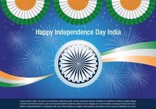 Bandeira feliz da Índia do Dia da Independência Fotografia de Stock