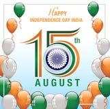 Bandeira feliz da Índia do Dia da Independência Imagem de Stock