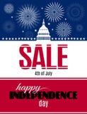 Bandeira feliz da venda do Dia da Independência Imagens de Stock