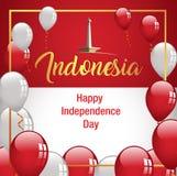 Bandeira feliz de Indonésia do Dia da Independência Fotografia de Stock Royalty Free