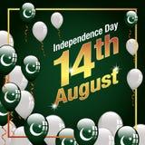 Bandeira feliz de Paquistão do Dia da Independência Imagem de Stock