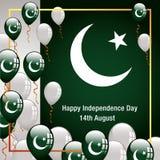 Bandeira feliz de Paquistão do Dia da Independência Imagens de Stock Royalty Free