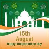 Bandeira feliz de Paquistão do Dia da Independência Imagem de Stock Royalty Free