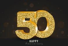 20 - bandeira feliz do aniversário do ano 20o logotipo do ouro do aniversário no fundo escuro ilustração royalty free