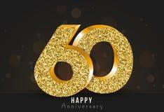 20 - bandeira feliz do aniversário do ano 20o logotipo do ouro do aniversário no fundo escuro ilustração do vetor