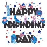 Bandeira feliz do Dia da Independência Fotografia de Stock Royalty Free