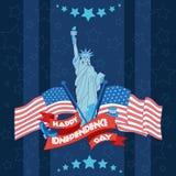 Bandeira feliz do Dia da Independência Ilustração lisa Foto de Stock