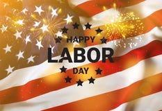 Bandeira feliz do Dia do Trabalhador, fundo patri?tico americano Dia da Independ?ncia de Am?rica imagem de stock royalty free