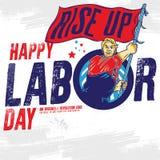 Bandeira feliz do Dia do Trabalhador Molde do projeto Ilustração do vetor ilustração stock