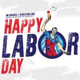 Bandeira feliz do Dia do Trabalhador Molde do projeto Ilustração do vetor ilustração royalty free