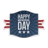Bandeira feliz do feriado de Memorial Day ilustração stock