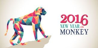 Bandeira 2016 feliz do triângulo do macaco do ano novo da porcelana Fotos de Stock Royalty Free