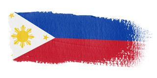 Bandeira Filipinas do Brushstroke Foto de Stock Royalty Free