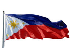 Bandeira Filipinas isoladas Fotografia de Stock