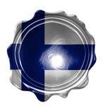 Bandeira finlandesa Imagem de Stock