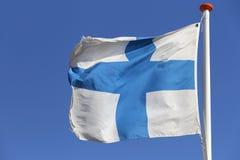 Bandeira finlandesa Foto de Stock