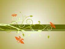 Bandeira floral Imagens de Stock