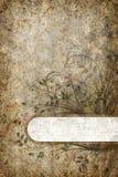 Bandeira floral. ilustração stock