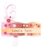 Bandeira floral Imagem de Stock
