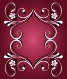 Bandeira floral abstrata Imagem de Stock