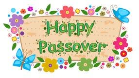 Bandeira floral da páscoa judaica Imagem de Stock
